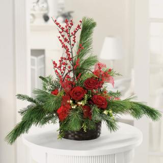 Forest Reflections Christmas Basket