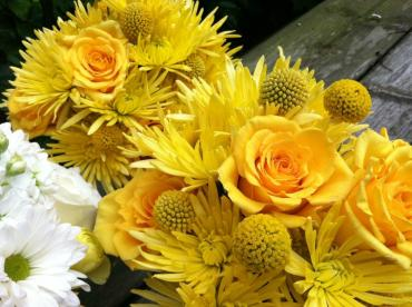 Yellow bouquets