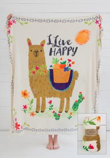 Live Happy blanket