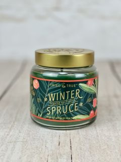 Winter Spruce Glass Jar Candle