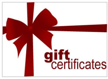 Gift Certificates - starting at