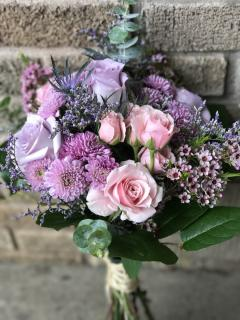 purple and pink bouquet