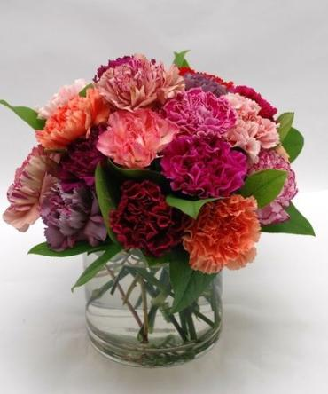 Mixed Color Carnation Arrangement