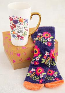 You make my heart happy mug and sock set