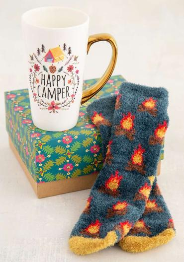 Happy Camper Mug and Sock Set