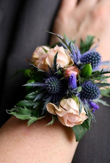 Thistle & Rose Corsage (C16)