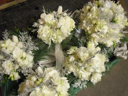 Winter all white bouquets