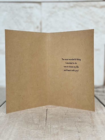 The Most Wonderful Thing Card