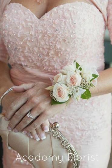 Pale Pink Spray Rose Corsage (C11)