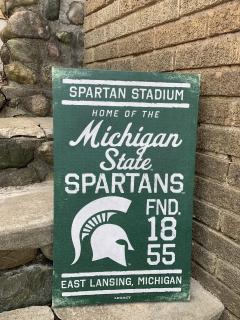 Spartan Canvas Sign