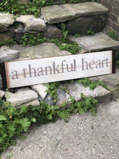 A Thankful Heart Sign