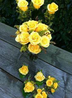 Yellow rose wedding