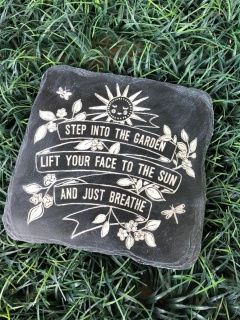 Step into the garden stepping stone