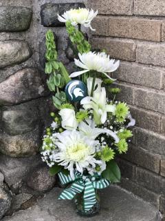 Sparty On Flowers