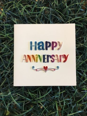 Quilling Happy Anniversary Card