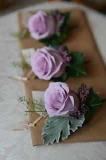 Purple Rose Boutonniere (B10)