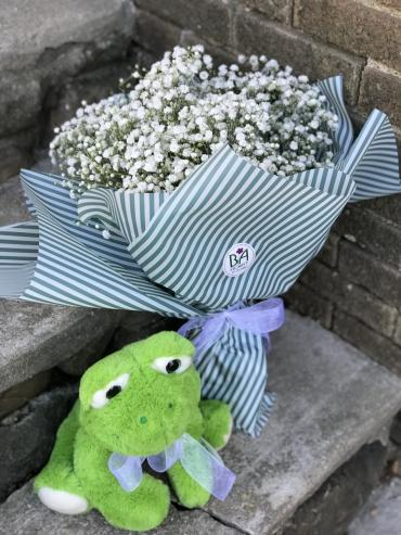 MSU Babies Breath Bouquet (select option)
