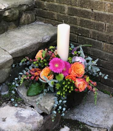 Memorial Candle Arrangement