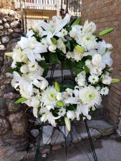 White Floral Wreath