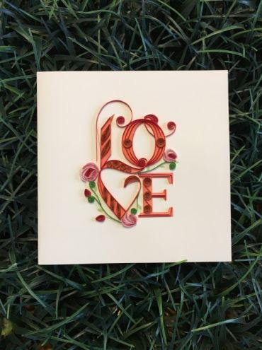 Quilling Love Card