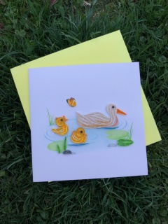 Momma and Baby Ducks Card