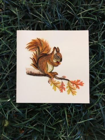 Quilling Squirrel Card