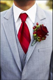 Red Rose Boutonniere (B22)