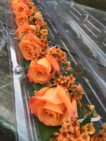 orange rose boutonnieres